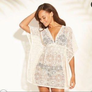 Women's Crochet Cut Out Back Cover Up Dress
